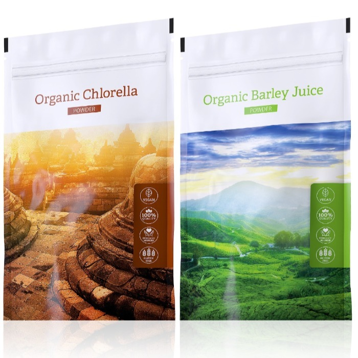 Energy Organic Barley Juice powder 100 g + Organic Chlorella powder 100 g