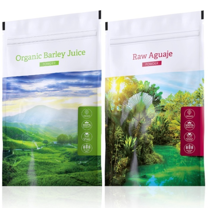 Energy Organic Barley Juice powder 100 g + Raw Aguaje powder 100 g