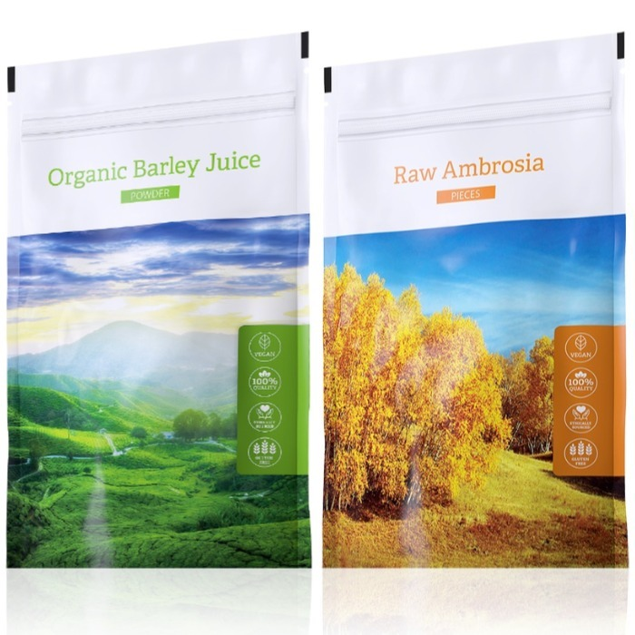 Energy Organic Barley Juice powder 100 g + Raw Ambrosia pieces 100 g