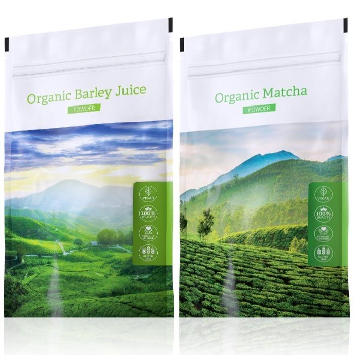 Energy Organic Barley Juice powder 100 g + Organic Matcha powder 50 g