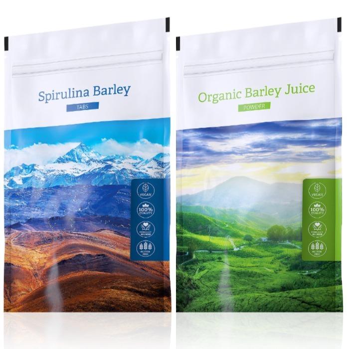 Energy Spirulina Barley tabs 200 tablet + Organic Barley Juice powder 100 g