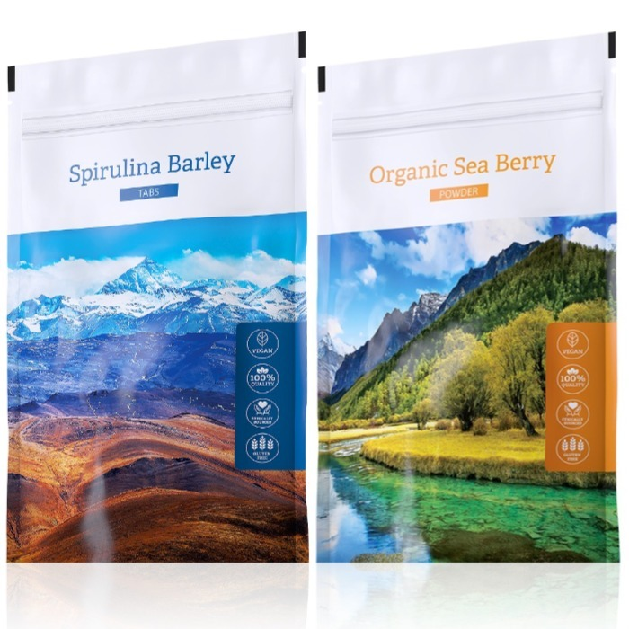 Energy Spirulina Barley tabs 200 tablet + Organic Sea Berry powder 100 g