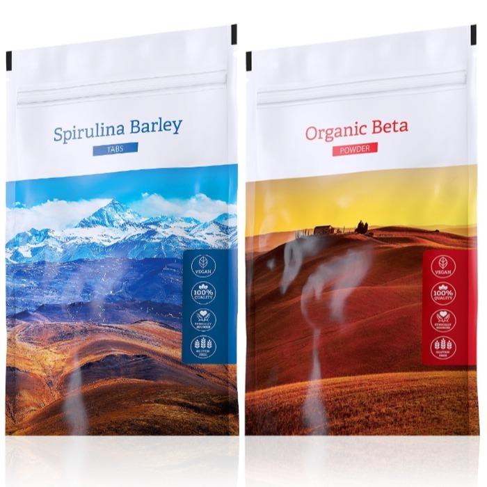 Energy Spirulina Barley tabs 200 tablet + Organic Beta powder 100 g