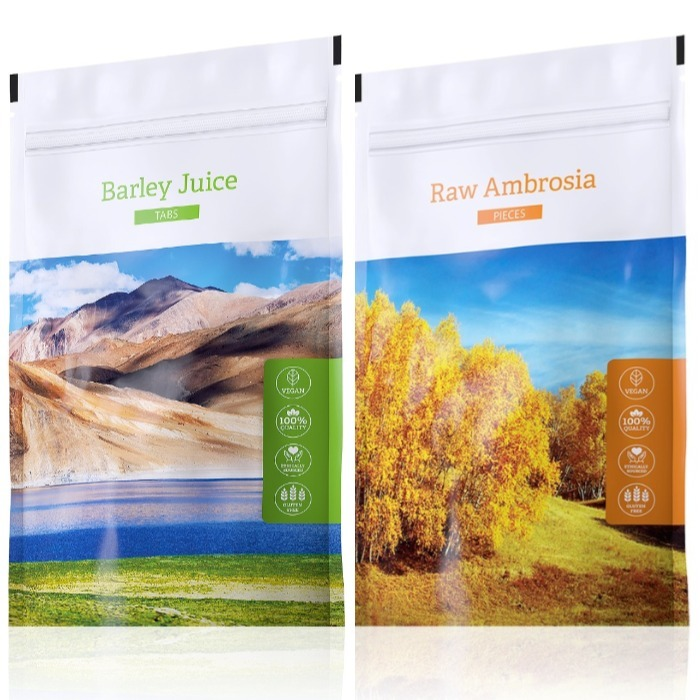 Energy Barley Juice tabs 200 tablet + Raw Ambrosia pieces 100 g