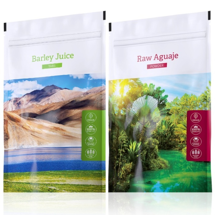 Energy Barley Juice tabs 200 tablet + Raw Aguaje powder 100 g