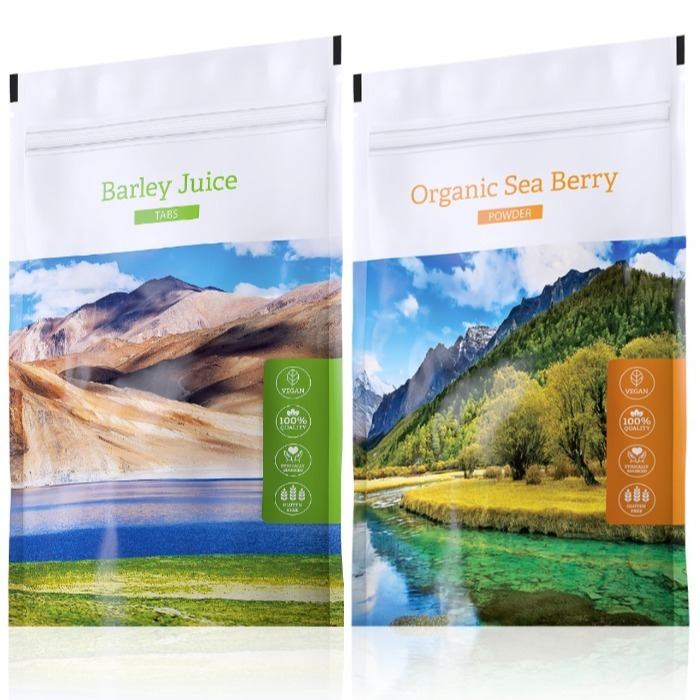 Energy Barley Juice tabs 200 tablet + Organic Sea Berry powder 100 g
