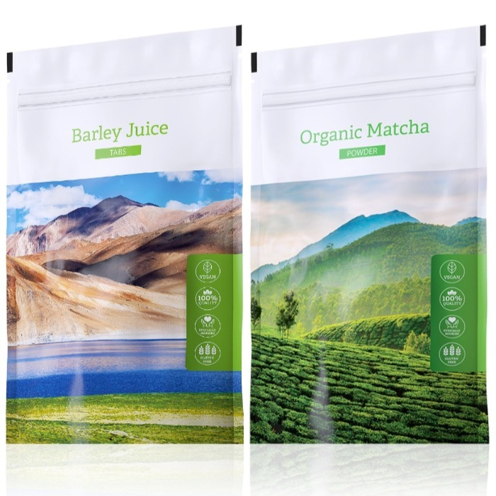Energy Barley Juice tabs 200 tablet + Organic Matcha powder 50 g