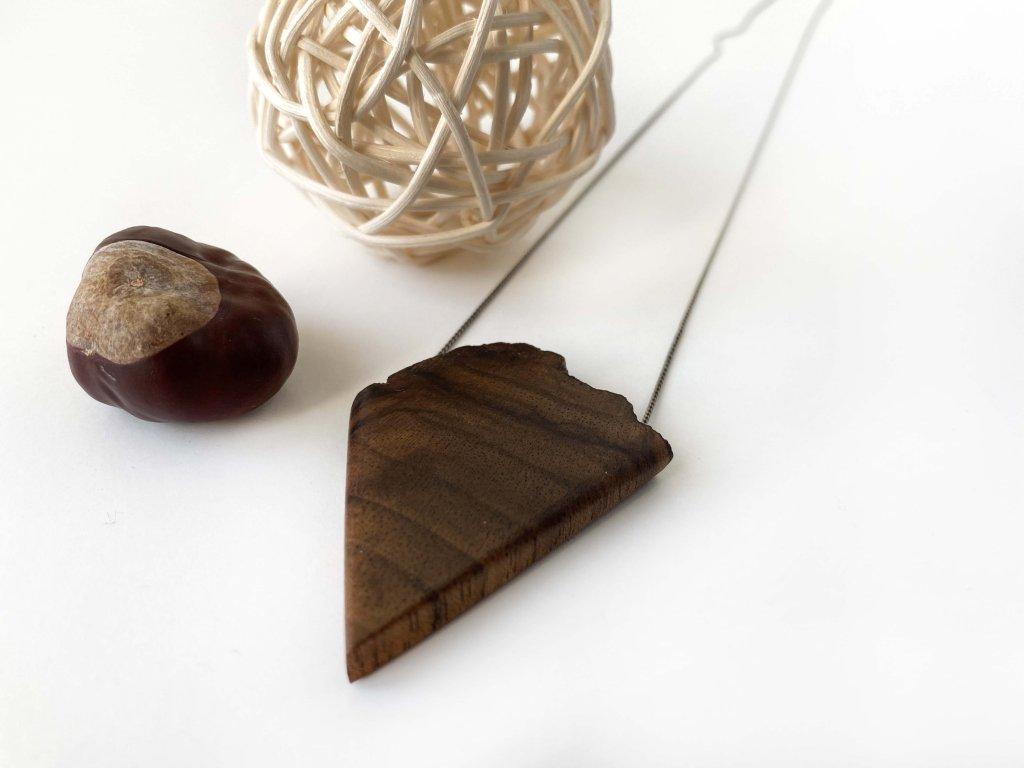 Náhrdelník Dřevák z ořechu IV