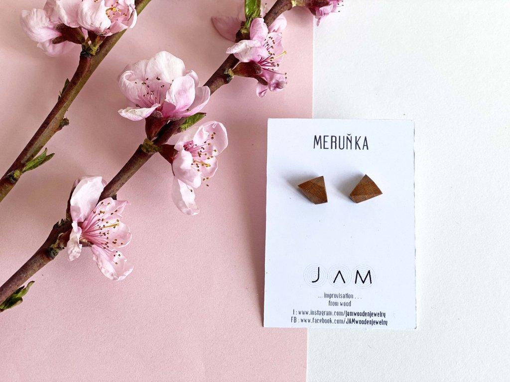 Náušnice JAM z meruňky