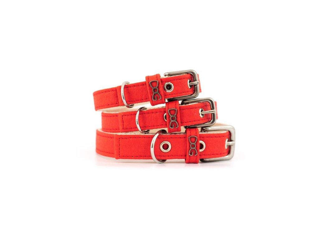Červený obojek Funky Dog