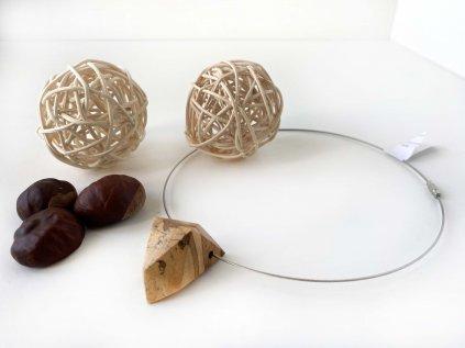 Náhrdelník Dřevák z ořechu