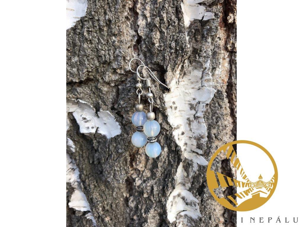 Náušnice měsíční kámen