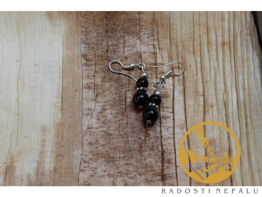 Náušnice onyx černý