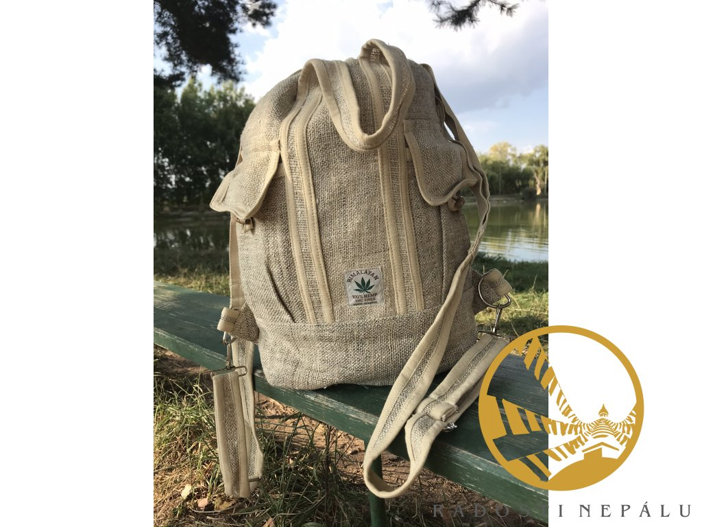 batoh taska hemp bezovy bez zipu (3)
