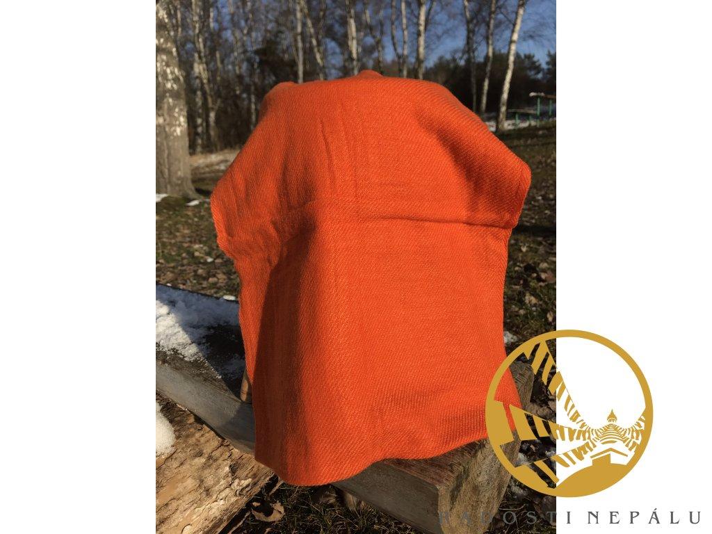 Pašmína oranžová měkká menší