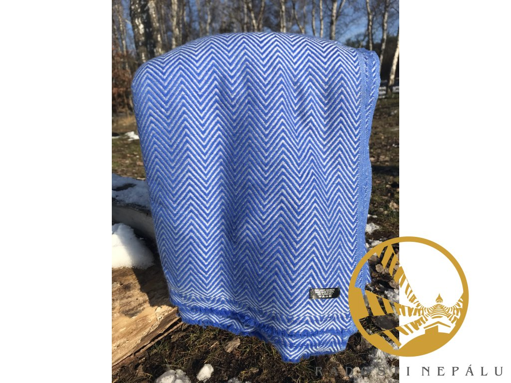 deka kasmirova vlna modra