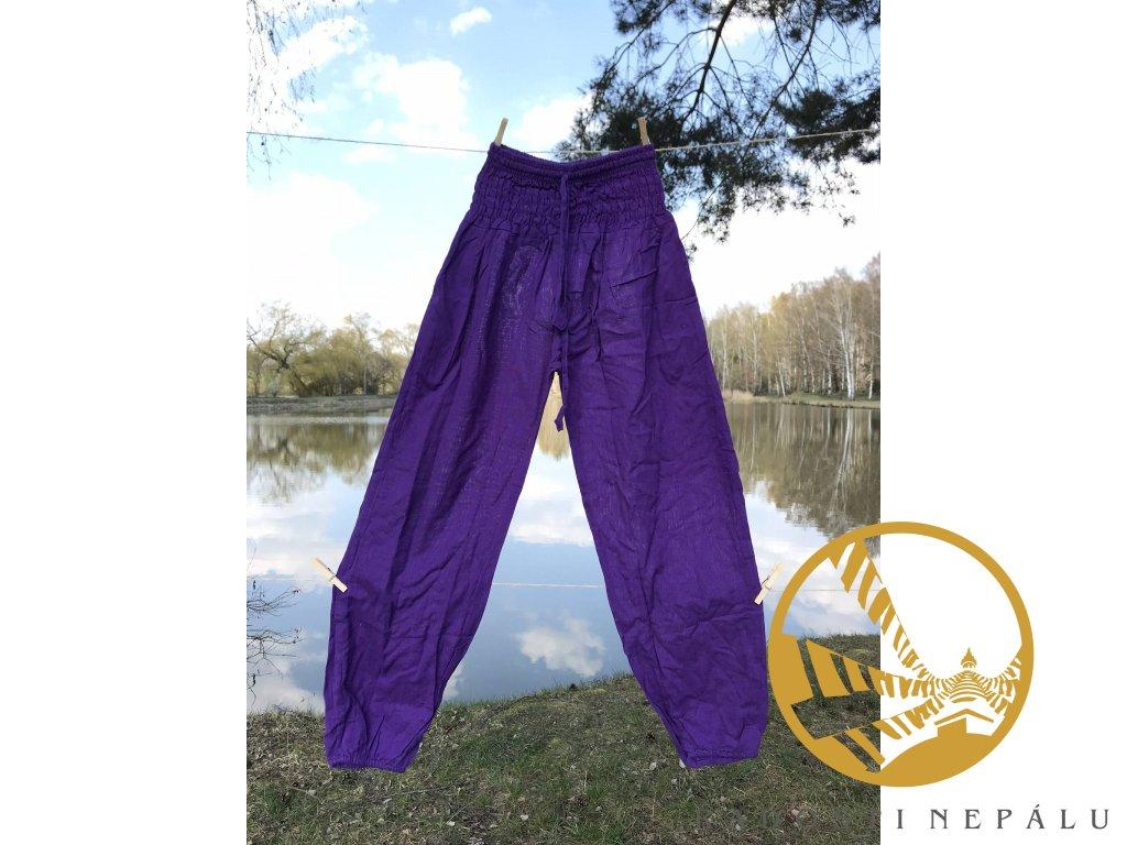 Kalhoty fialové