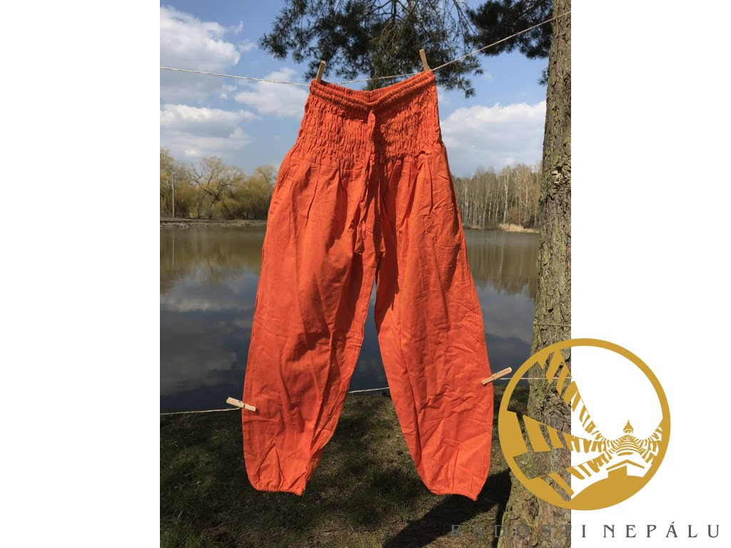 Kalhoty oranžové