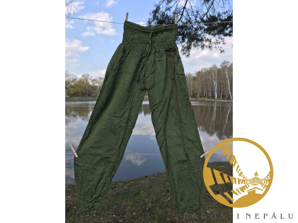 Kalhoty zelené