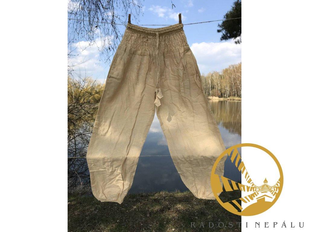 Kalhoty béžové