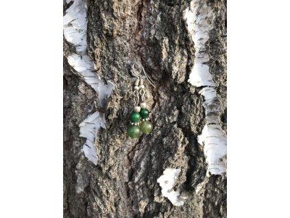 Náušnice jadeit zelený