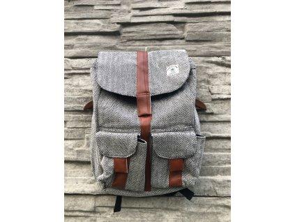 batoh taska hemp bezovy na zip