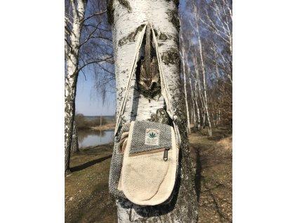 taska pres rameno konopi zelenobezova (1)