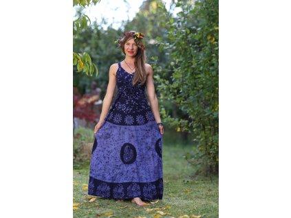 saty dlouhe batika modre