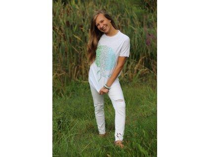 Tričko bílé s potiskem stromu