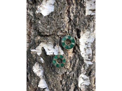 Náušnice kruh OMPH turkenit zelený