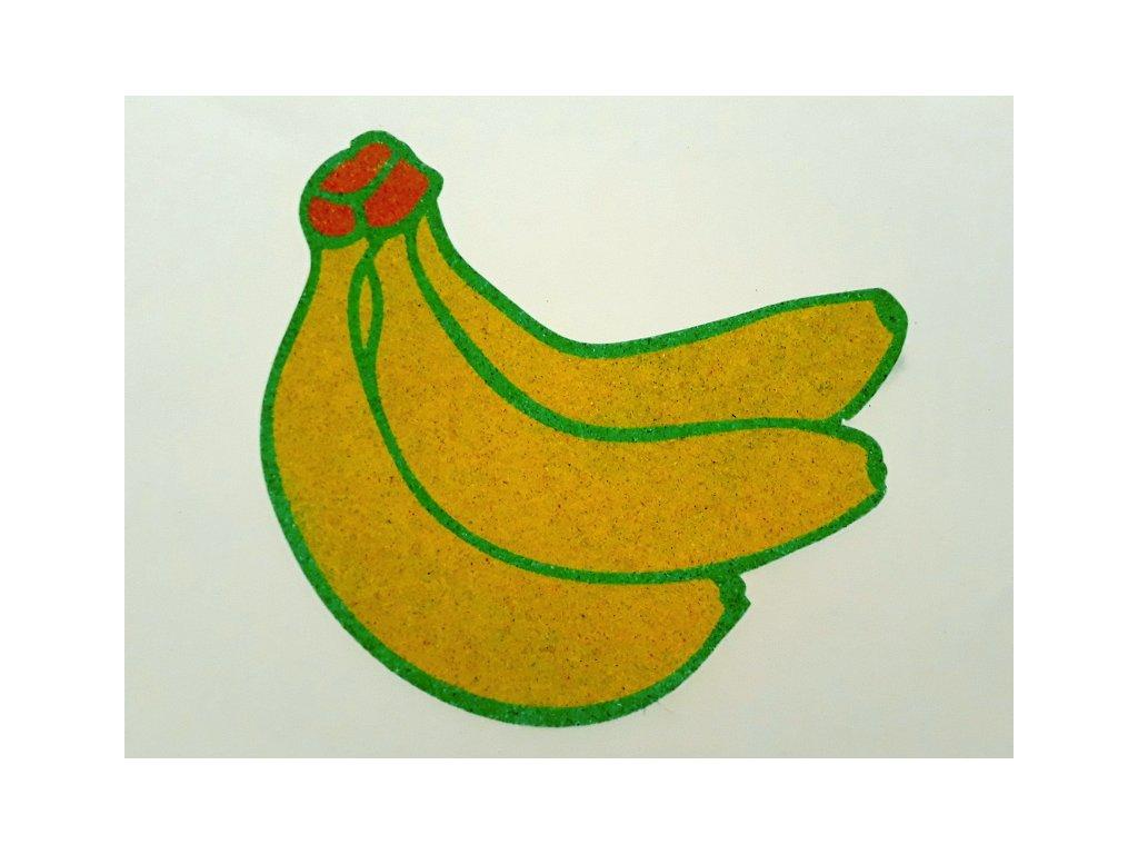 Šablona na pískování banán (Varianta A2 (420 × 594 mm))