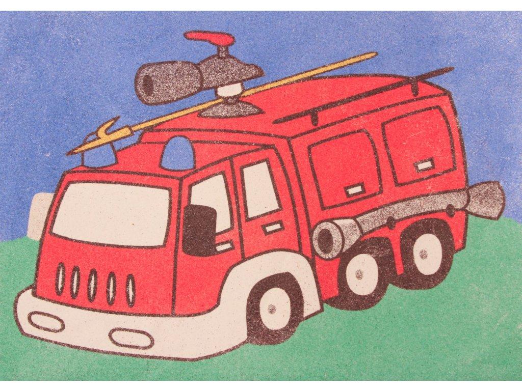 Šablona na pískování hasičské auto (Varianta A5 (148 x 210 mm))