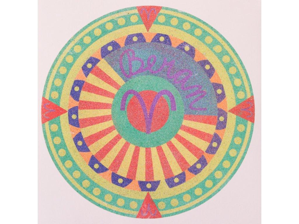 Šablona na pískování horoskop beran (Varianta 490 x 490 mm)