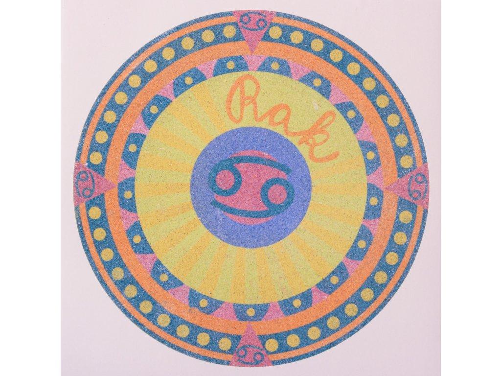 Šablona na pískování horoskop rak (Varianta 490 x 490 mm)