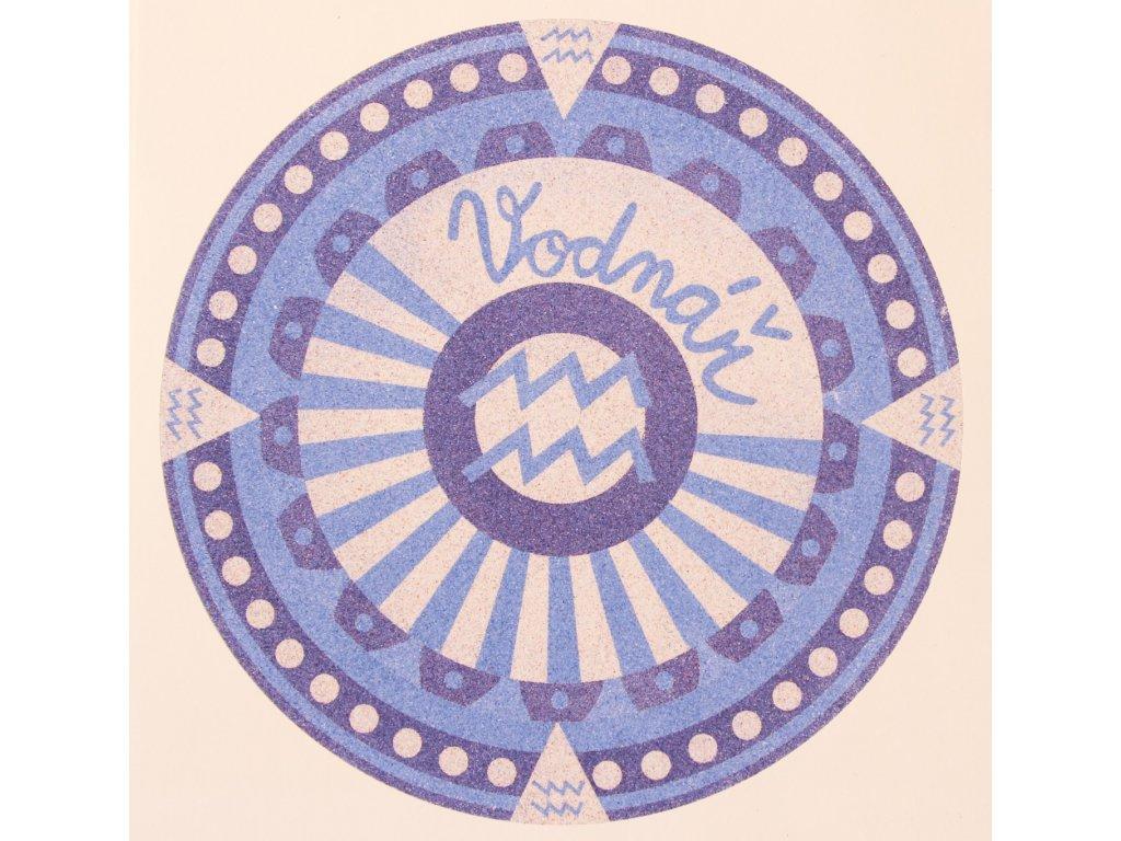 Šablona na pískování horoskop vodnář (Varianta 490 x 490 mm)