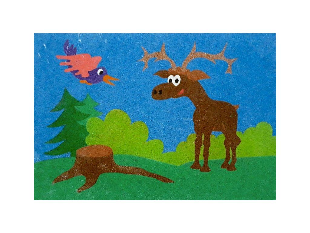 Šablona na pískování jelen (Varianta A5 (148 × 210 mm))