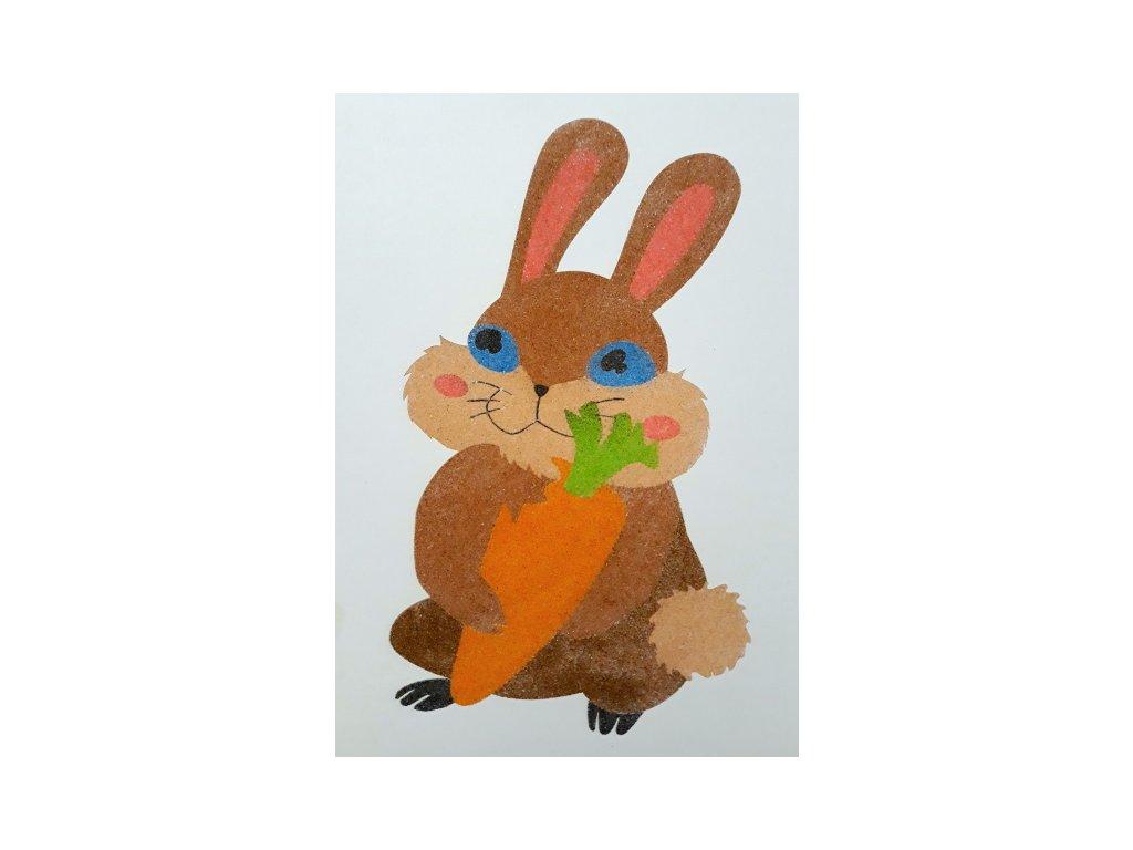 Šablona na pískování králíček s mrkví (Varianta A2 (420 × 594 mm))