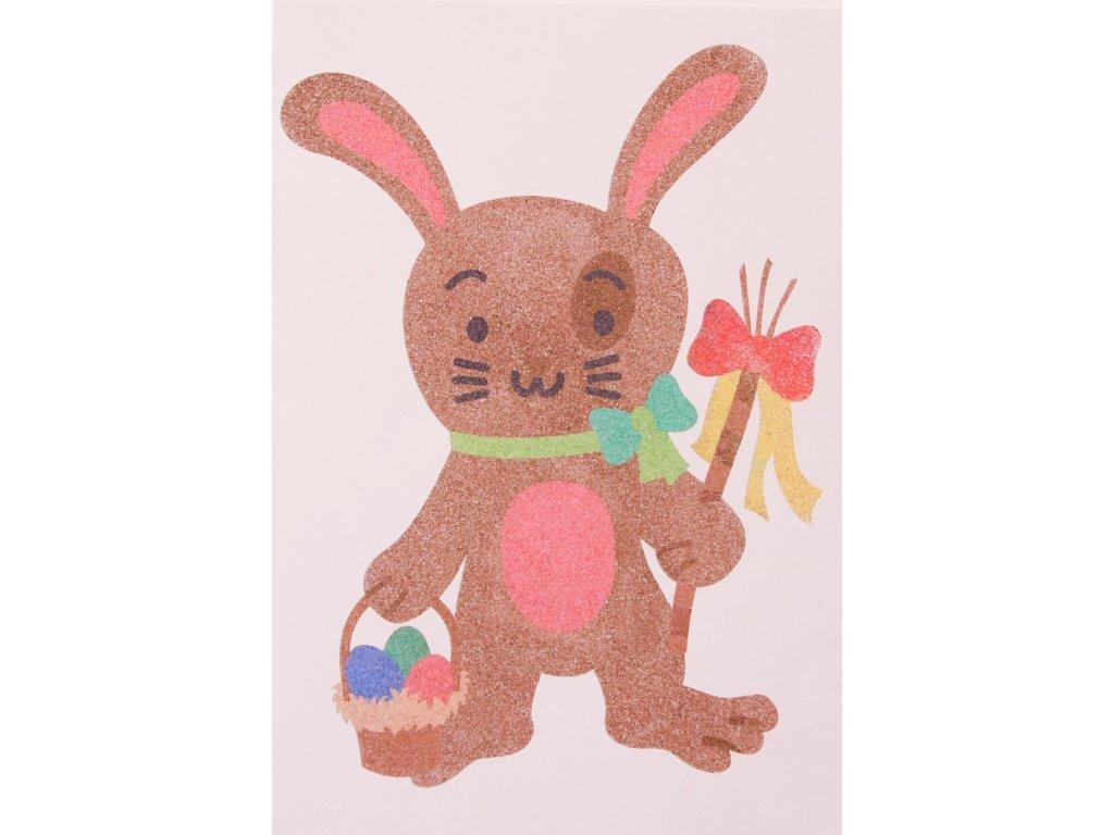 Šablona na pískování králík pomlázka (Varianta A5 (148 x 210 mm))