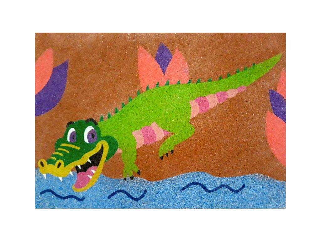 Šablona na pískování krokodýl ve vodě (Varianta A4 (210 × 297 mm))