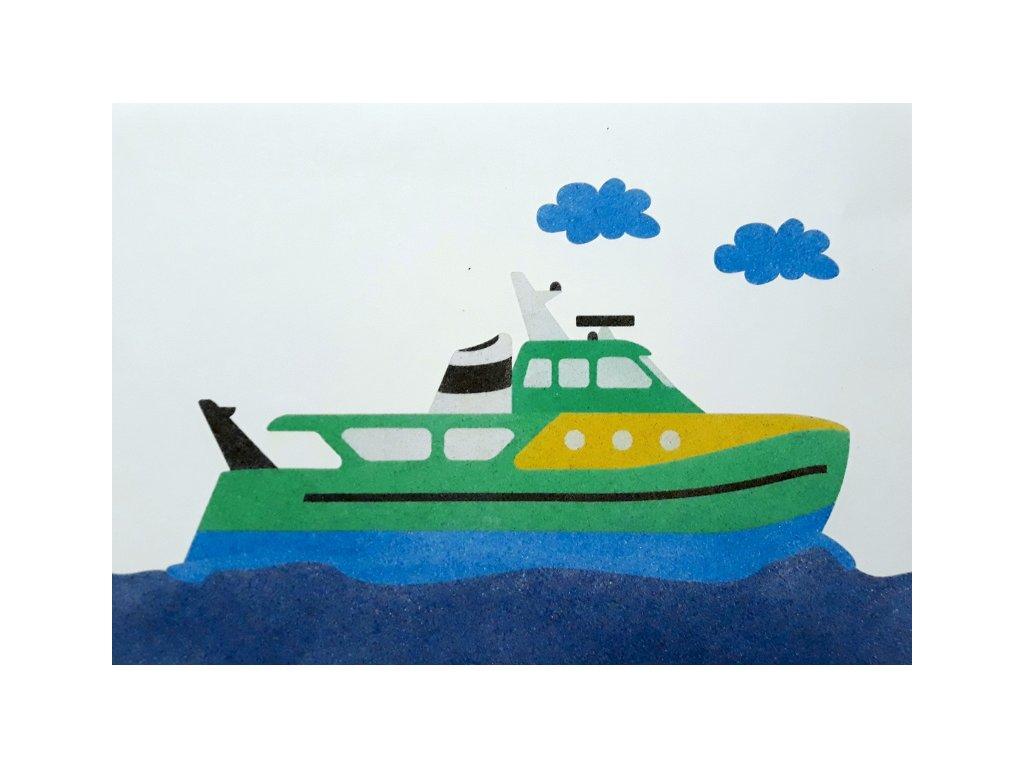 Šablona na pískování loď (Varianta A2 (420 x 594 mm))