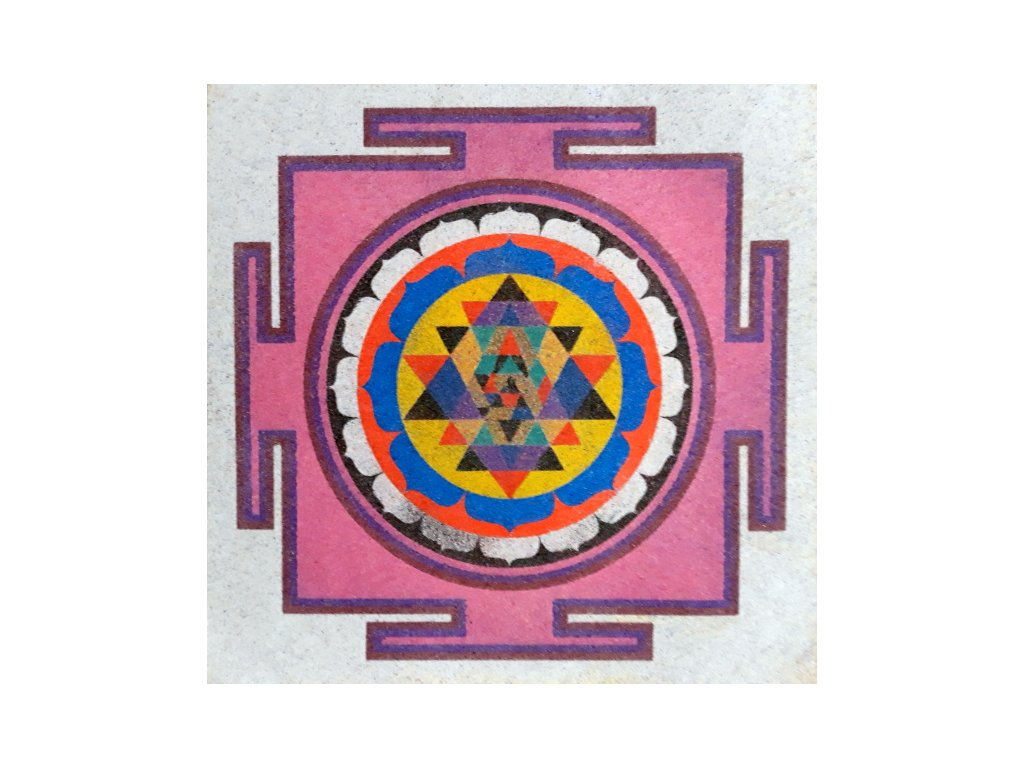 Šablona na pískování mandala 7 (Varianta 490 x 490 mm)