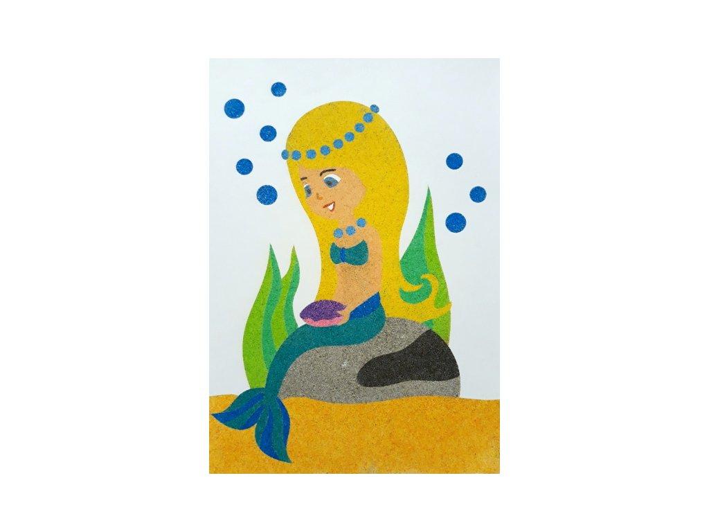 Šablona na pískování mořská panna (Varianta A5 (148 x 210 mm))