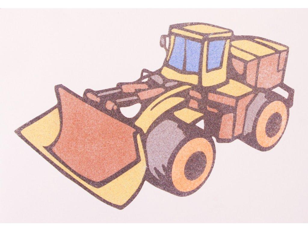 Šablona na pískování nakladač (Varianta A5 (148 x 210 mm))