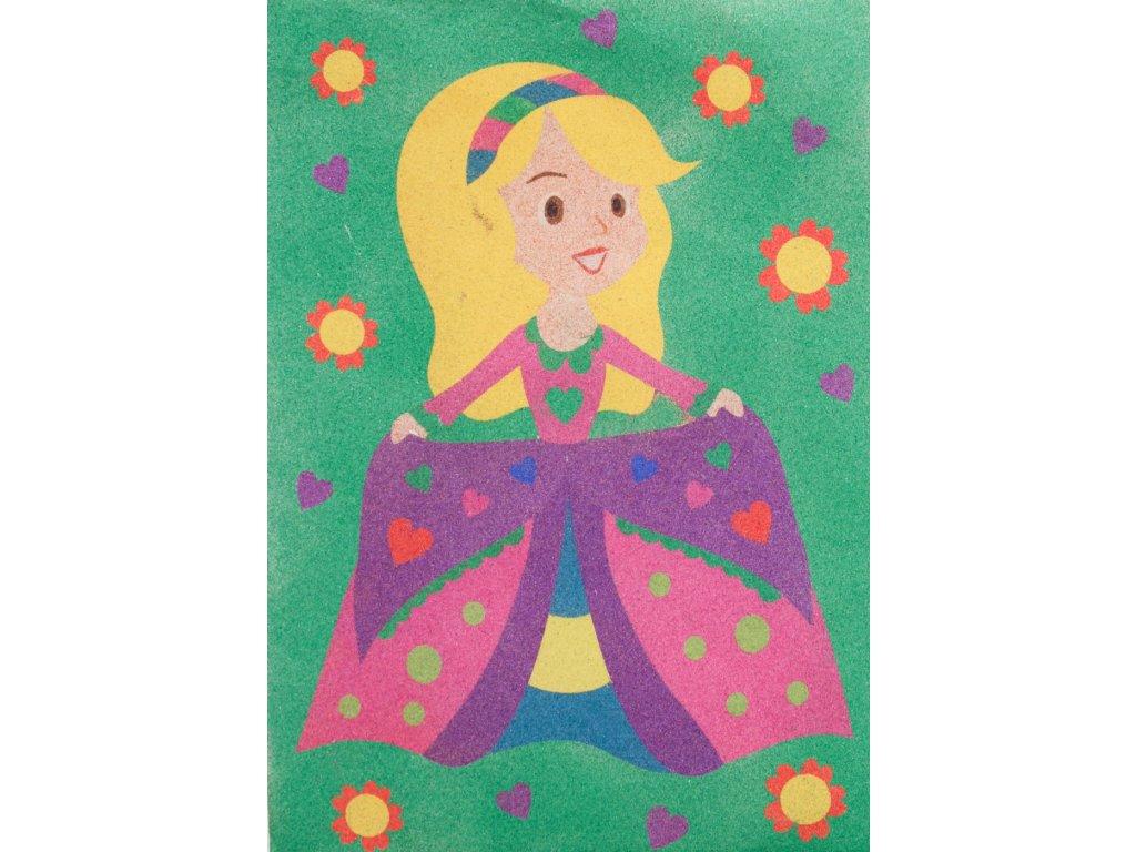 Šablona na pískování princezna (Varianta A5 (148 × 210 mm))