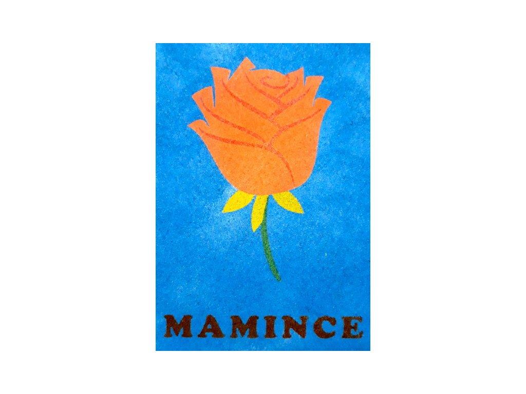 Šablona na pískování růže - mamince (Varianta A2 (420 × 594 mm))