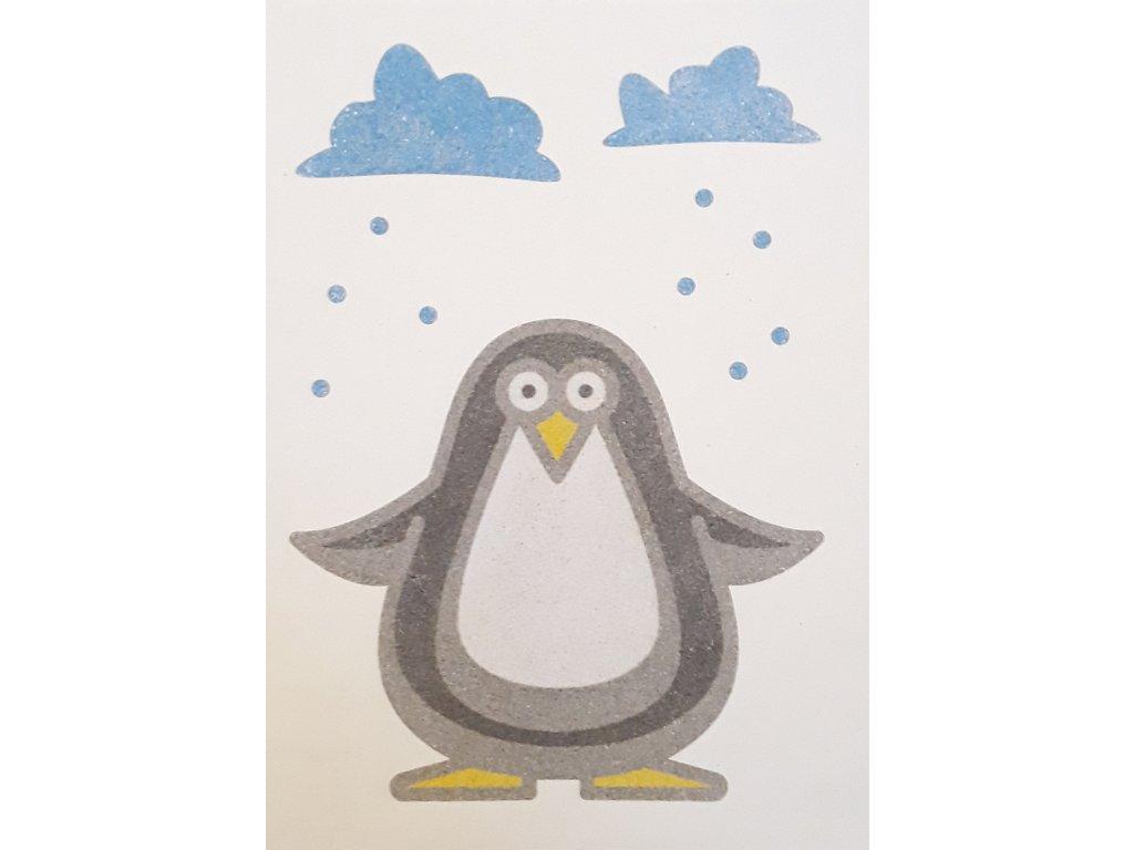 Šablona na pískování tučňák (Varianta A5 (148 x 210 mm))