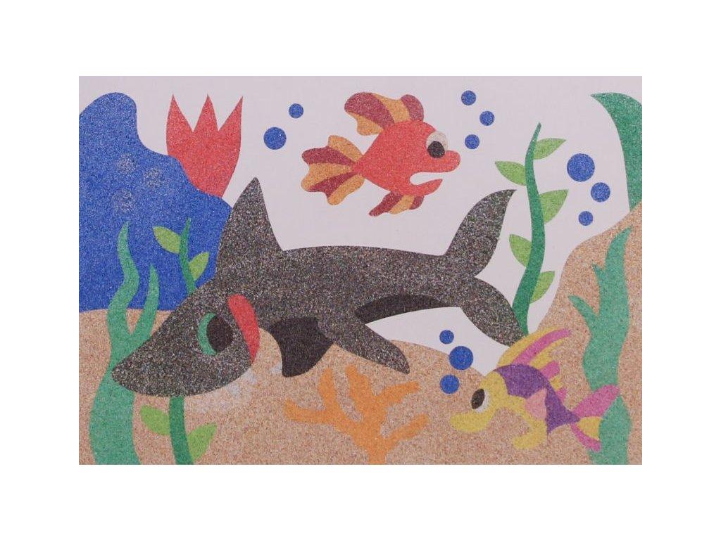 Šablona na pískování žralok jedlík (Varianta A5 (148 x 210 mm))