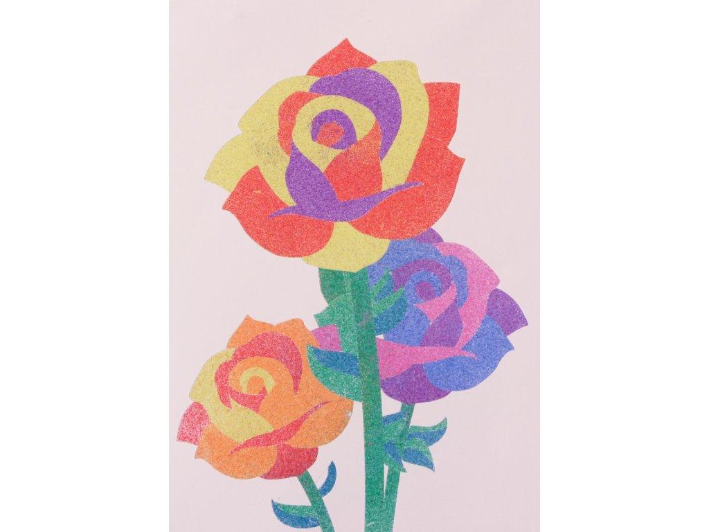 Šablona na pískování růže (Varianta A5 (148 x 210 mm))