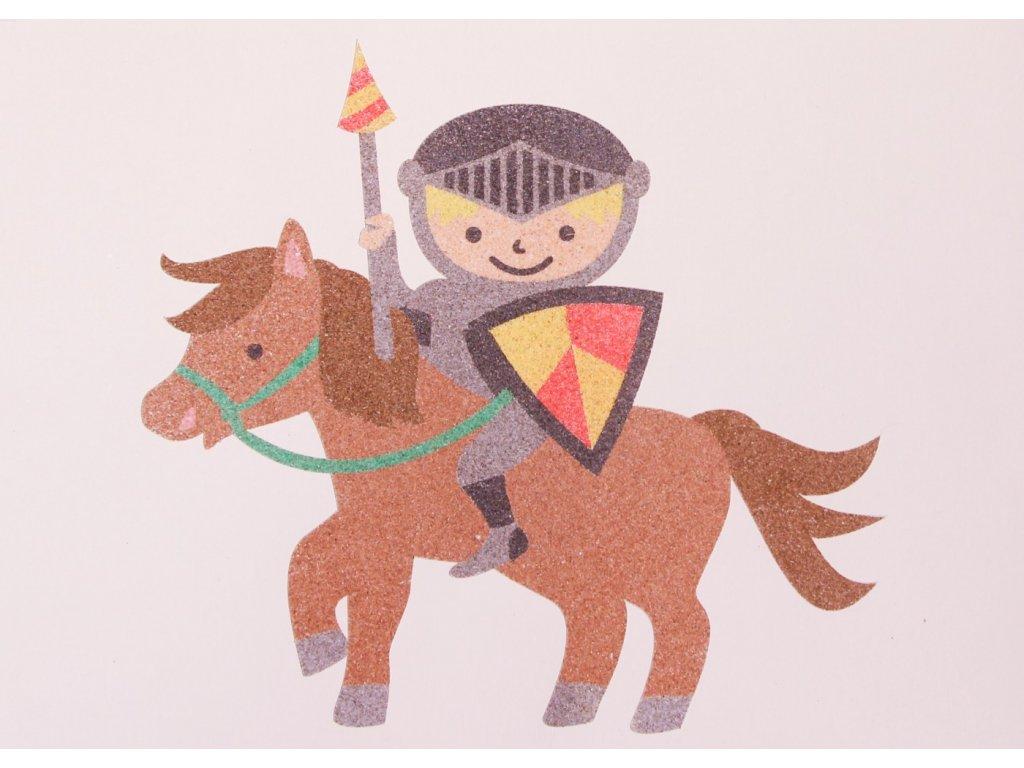 Šablona na pískování rytíř na koni (Varianta A5 (148 x 210 mm))