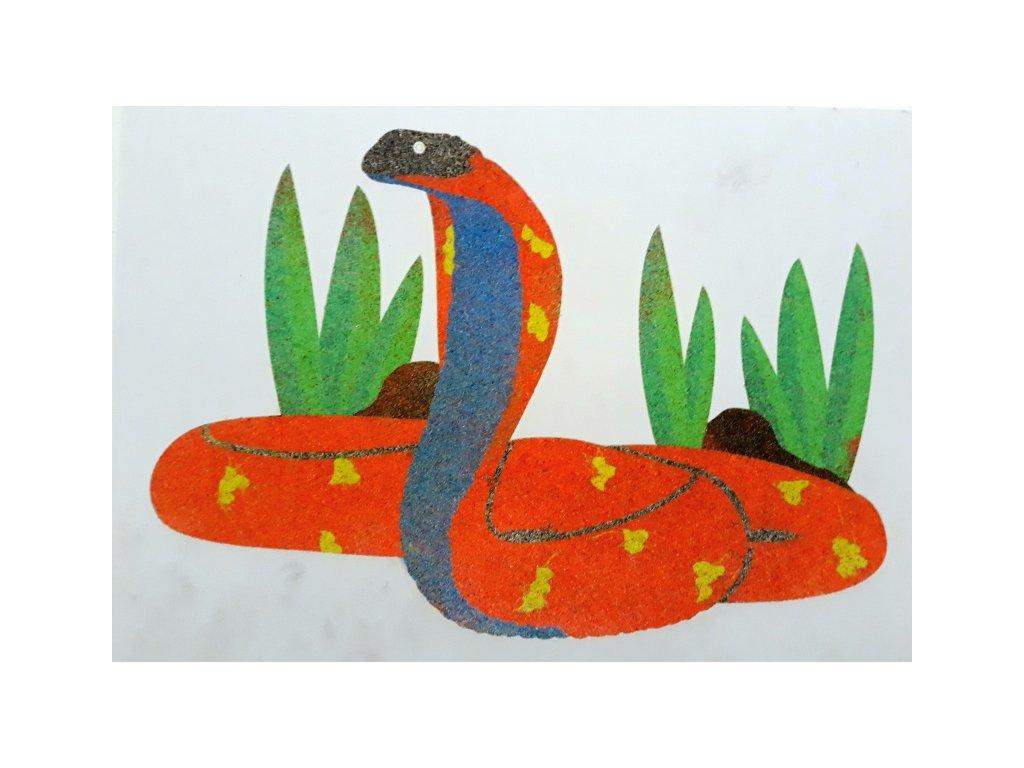 Šablona na pískování kobra (Varianta A5 (148 x 210 mm))